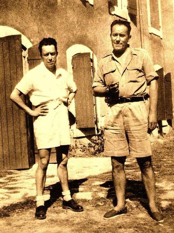 Albert Camus et René Char, chez Char - Ile-sur-Sorgues...