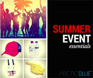 There's a whole lot of opportunity for you to get your brand out there at summer events - whether you are holding an event or sponsoring one, here's our top ten summer event products...