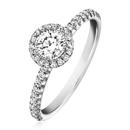 ソリテールリング プラチナ ダイヤモンド付き - ピアジェ ウェディング G34L1A00