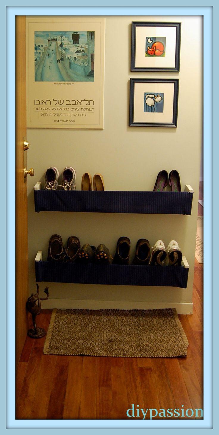 best 25 shoe racks for closets ideas on pinterest diy. Black Bedroom Furniture Sets. Home Design Ideas