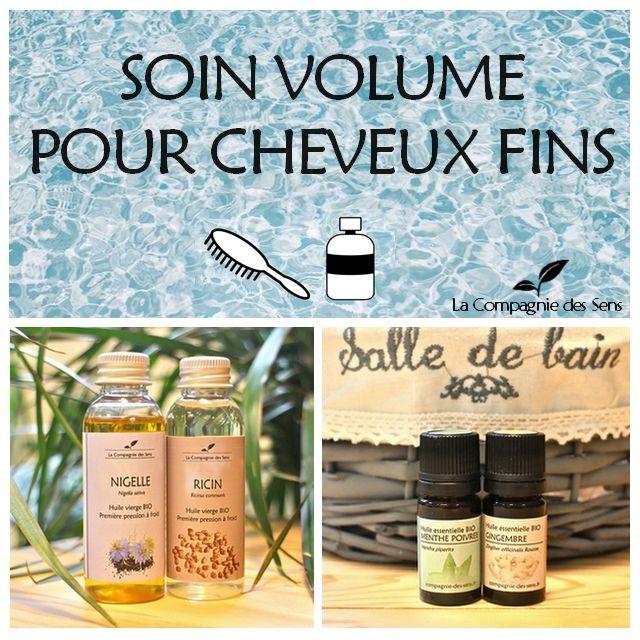 Soin capillaire aux huiles essentielles pour redonner du volume aux cheveux fins
