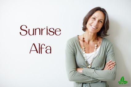 Ser facial Sunrise Alfa  Este un ser care contine foarte multe proprietati active-coesmetice, reusind cu succes sa amelioreze toate problemele care pot sa apara la orice tip de ten.