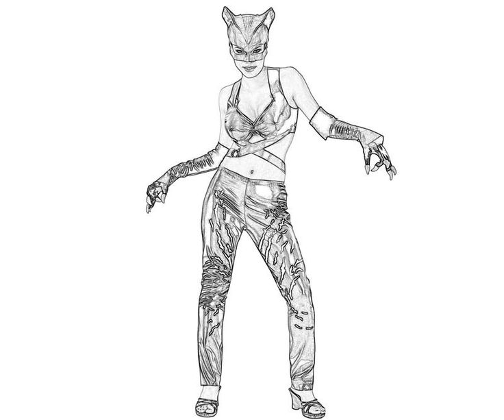 Catwoman Coloring Pages Printable Injustice Gods Among