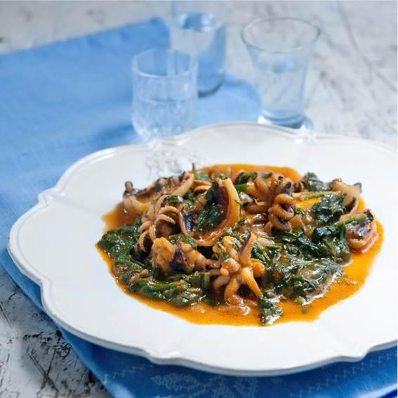What's for dinner? How about Cuttlefish with spinach, a traditional recipe from Crete, Greece. http://instagram.com/p/YPcnQMFFHj/
