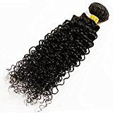 Babe Hair Kinky Curly Weave Black Brazilian Human Hair Bundle 100% Real Raw Unprocessed Virgin Remy Hair Weft Extension (18 Inches, Natural Color)