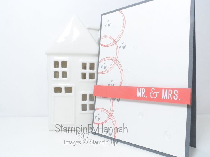 Inspire.Create.Challenge Wedding Card Colour Challenge using Year of Cheer from Stampin' Up! by StampinbyHannah  Simple card in unusual colours.  Click through for more details and supplies list!