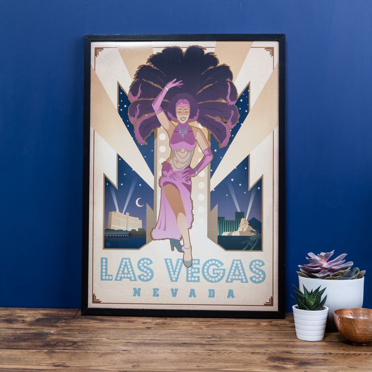 Live vicariously through your walls with this glamorous las vegas poster fun and flirty this fabulous poster will brighten up any room in t