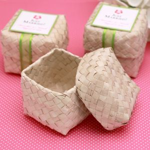 Square Palm Leaf Favor Box $1.00