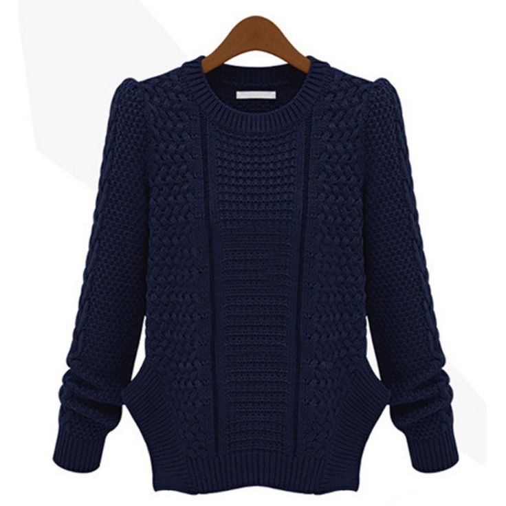 Long Sleeve Casual Pullovers Sweaters Tops Sweaters For 4 Colors Knitwears