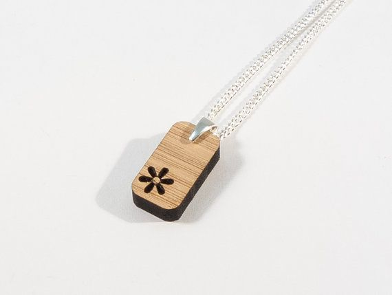 Bamboo Flower Pendant by BeamDesigns on Etsy