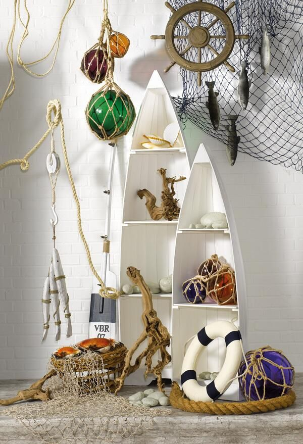 """""""A Day at the Seaside"""", nautical display props, pinned by Ton van der Veer"""