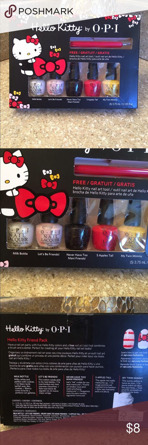 Hello Kitty OPI nail polish kit. Brand new 5- OPI nail polishes with a design tool.  New Hello Kitty Makeup