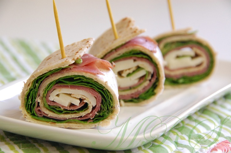 The Healthy Bites: Roast Beef, Provolone, and Spinach Pinwheels
