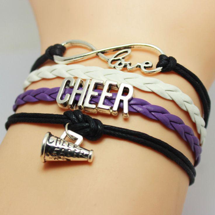 Cheer Cheerleader Charm Bracelet