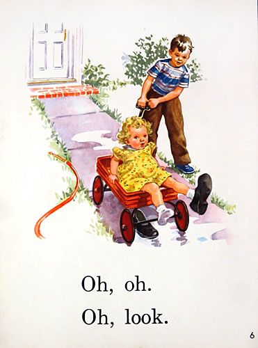 Original 1950s Dick and Jane Large School Posters for Sale