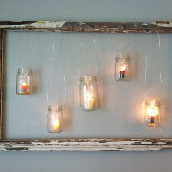 1000 images about diy repurposed windows on pinterest for Hanging candles diy