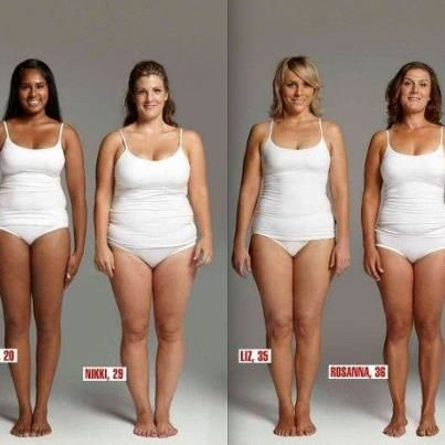 All of these women weigh 154lbs. Keep it in perspective. It's about being healthy, how you feel and want to look in your clothes. Remember, muscle weighs more than fat....A 5ft woman who is overweight may wear a size 4 and a 6ft muscular woman may wear a size 10. It's NOT about the NUMBER!