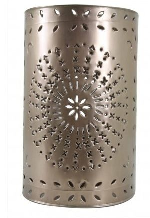 punch tin can art | ... tin wall sconce designs are hand punched and made completely by hand