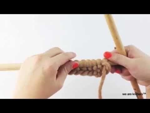 Cómo tejer el punto jersey retorcido - Aprender a tejer - YouTube