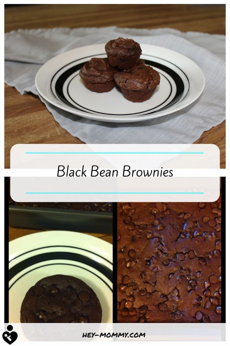 Delicious, healthy brownies made with black beans instead of flour! Healthy dessert.