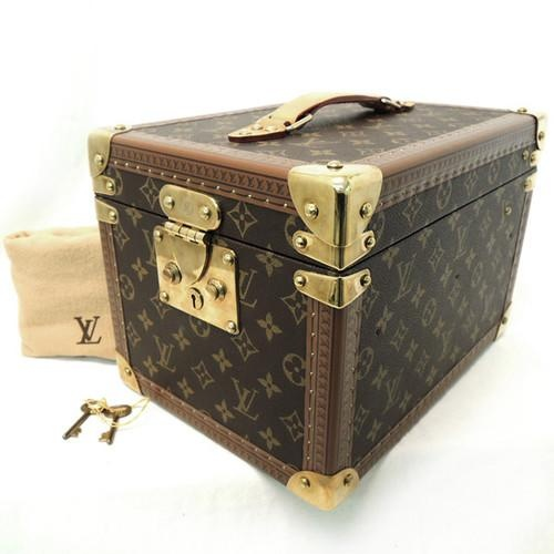 Rise on Louis Vuitton Monogram Boite Flacons Cosmetic Train Case Makeup Case 2 | eBay