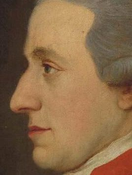 """1780s.Hagenauer Mozart detail.so-called """"Hagenauer Mozart"""" was owned by Johann Lorenz Hagenauer, who was the friend, landlord, and business partner of Leopold Mozart, the father of W.A. Mozart. The painting was found in a collection of artefacts that could not be traced back to the estate of Johann Lorenz Hagenauer, because according to Hagenauer's 1792 probate records he did not leave any painted portraits. The frame of the painting bears no property mark of Johann Lorenz Hagenauer."""