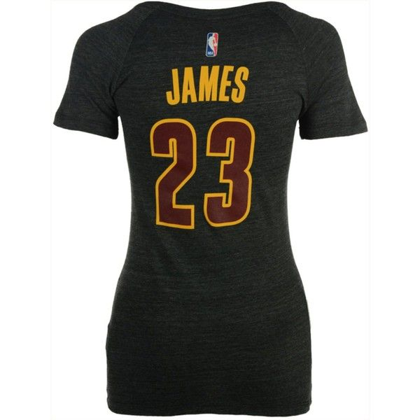 adidas Women's LeBron James Cleveland Cavaliers Player T-Shirt ($34) ❤ liked on Polyvore featuring tops, t-shirts, black, nba t shirts, adidas tee, adidas top, adidas and adidas t shirt