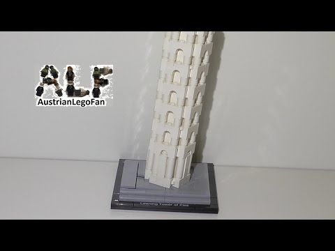 Lego Architecture 21015 The Leaning Tower of Pisa / Schiefe Turm von Pisa - Lego Speed Build Review - YouTube