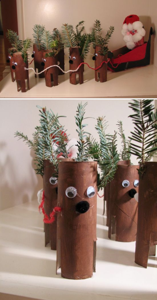 Crafts and DIY Community: Toilet Paper Roll Christmas Crafts | Crafts and DIY Community