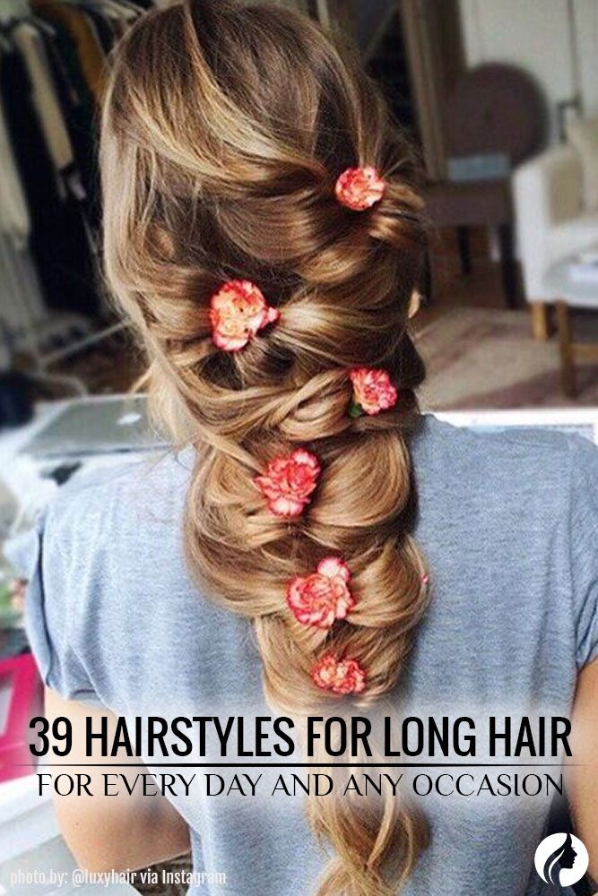 What's great about long hair is that it is so versatile that you can do any new cute hairstyles for long hair each day. We've collected the 39 cute hairstyles for long hair with braids and fishtails, updo and down styles, half-up and half-down. ★ See more: http://glaminati.com/awesome-cute-hairstyles-for-long-hair-everyday/?utm_source=Pinterest&utm_medium=Social&utm_campaign=FI-awesome-cute-hairstyles-for-long-hair-everyday-30
