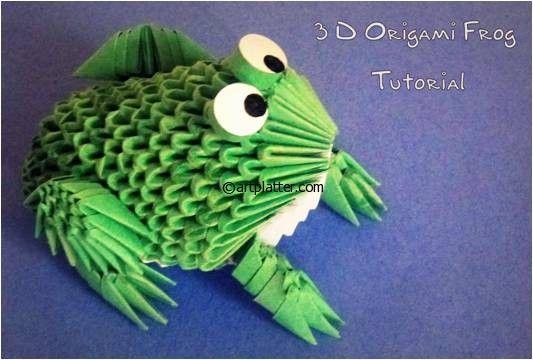 3D+Origami | 3D Origami Frog Instructions • Art Platter