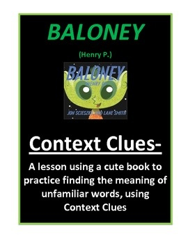 Context Clues from AAMU to Zimulis-this lesson is done with an interesting book by Jon Scieszka.  The printable is a booklet that the students can ...