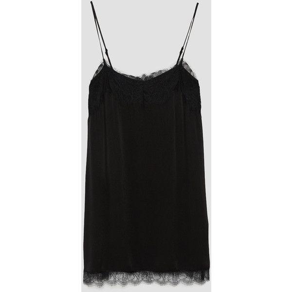 VESTIDO LENCERO MINI - Ver todo-VESTIDOS-MUJER | ZARA España (€30) ❤ liked on Polyvore featuring skirts and mini skirts