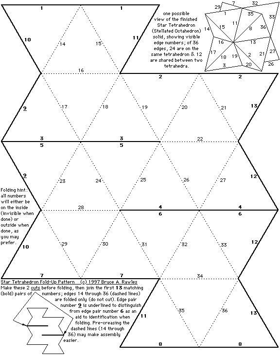 1000 images about angled forms shapes on pinterest for Tetrahedron kite template