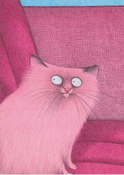 Karsten Teich   Katze rosa (Pink cat)