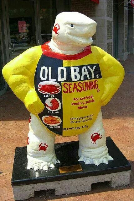 Fear the Turtle Statue Project - Old Bay and the University of Maryland Terps. A great combination.
