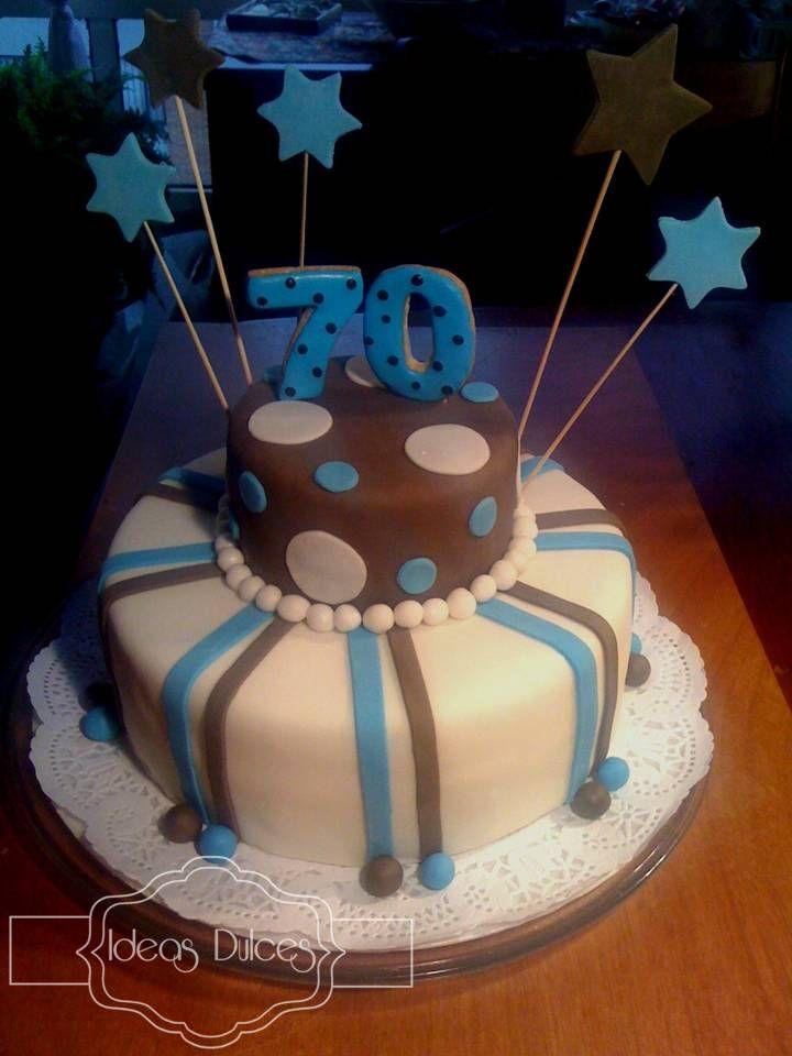 Torta para el cumpleaños del papá de Luz Stella