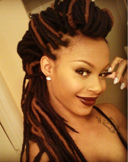 Love her yarn braids ;) ... i want these