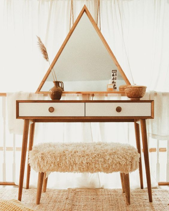 boho home decor, vanity table