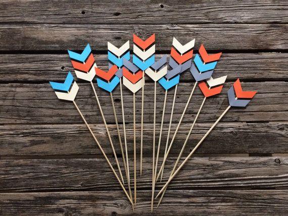 Tribal Party Skewer Stick  Arrows Wild One by BlueOakCreations