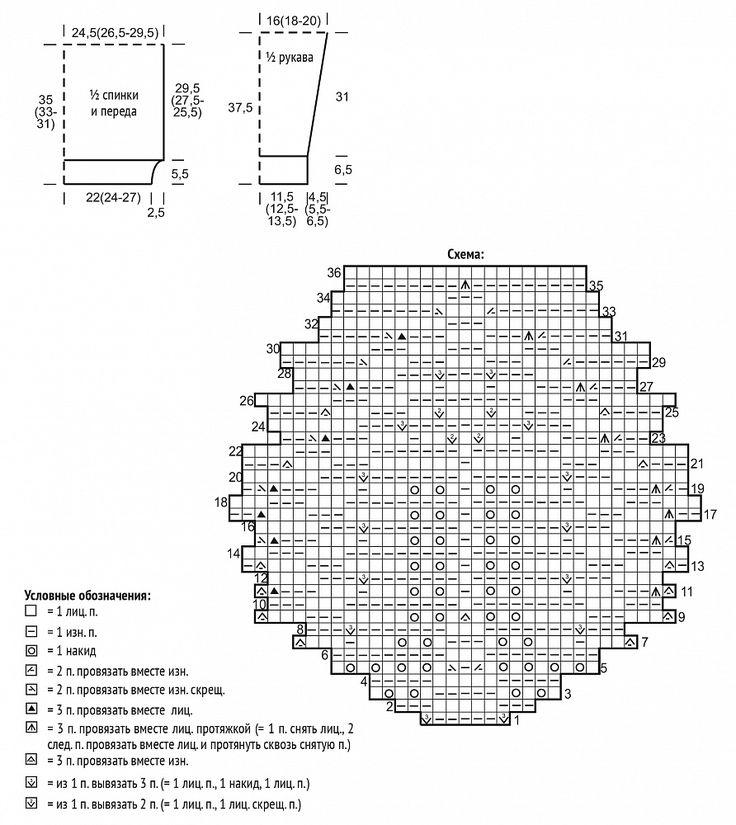 На сайте Люди Вяжут представлена модель №6 из журнала LINO №1, пряжа Solo Lino. Приведена инструкция по вязанию для размера: 42/44, 46/48 и 50/52. Инструменты: прямые спицы № 3 и 4, круговые спицы № 4 длиной 80 см.