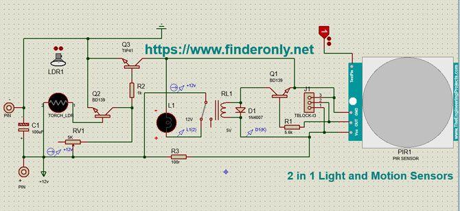 Skema Rangkaian Sensor Cahaya Dan Sensor Gerak 2 In 1 Kit Lampu Otomatis Aktif Dengan Deteksi Gerakan Dan Cahaya Skema Pir Dan Skema Ldr M Di 2020 Bercahaya Pir Gerak
