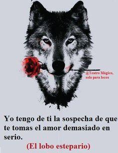Yo tengo de ti la sospecha de que tomas el amor demasiado en serio / Hermann Hesse / El lobo estepario