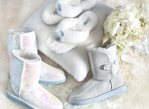 UGGs for weddings?! lol better than walking around barefoot!  And nobody would see them under the dress!