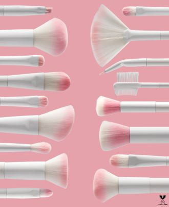 <p>Get the complete 17-piece cruelty-free brush collection that contains everything you need for a complete face and eye look. Each brush is made with incredibly soft, synthetic fibers that pick up the perfect amount of product and blends seamlessly into the skin. Featuring a sleek travel brush roll with a secure button closure, getting a flawless look on the go has never been easier! This Brush Roll includes: Powder Brush, Blush Brush, Foundation Brush, Large Stipple Brush, Small Stipp...