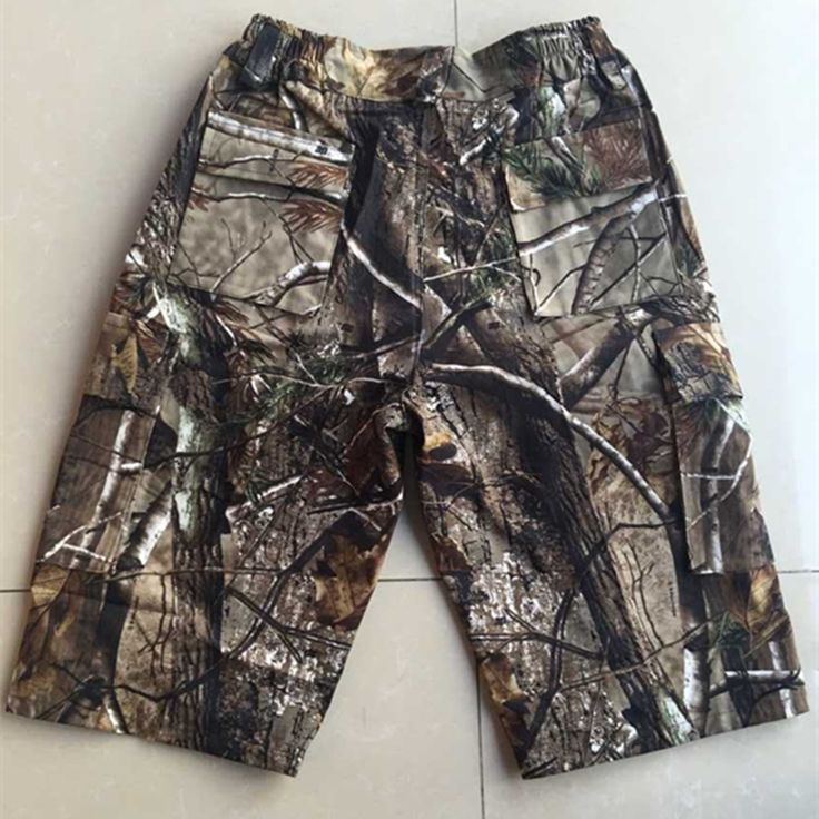 Mens Casual Outdoor Sports Cargo Shorts Man Camo Shorts Military Camouflage Hunting Camo Pants