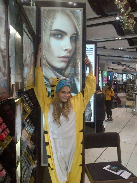 just Cara being Cara