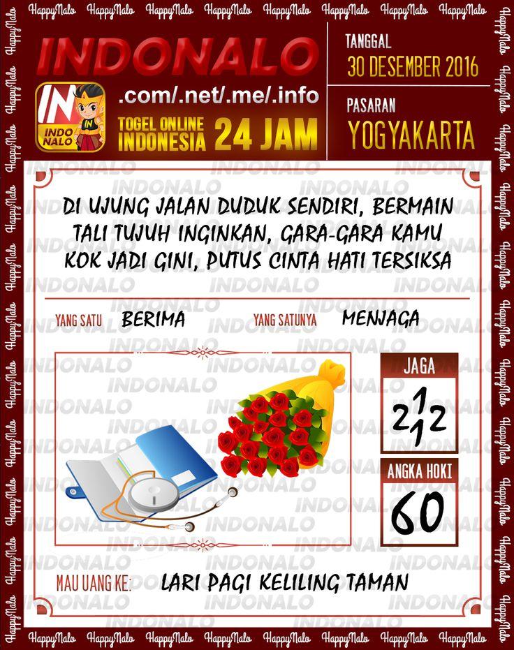 Kode Lotre 3D Togel Wap Online Live Draw 4D Indonalo Yogyakarta 30 Desember 2016