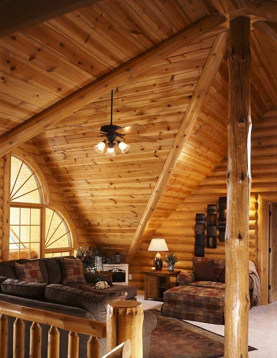 Pin by brittany kugath on log cabin pinterest for Log home with loft