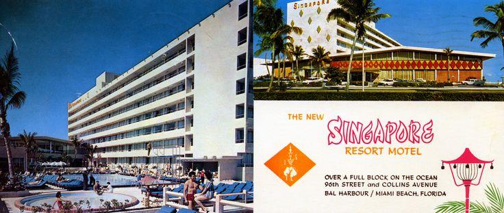 Singapore Resort Motel Bal Harbor Miami Beach FL   by Edge and corner wear